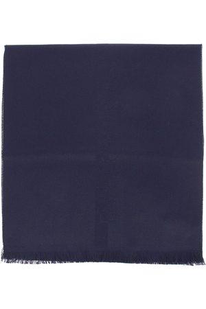 Emporio Armani Sciarpa in pura lana con maxi logo ricamato