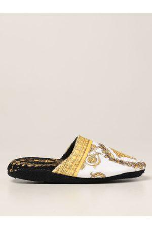 Versace Home Pantofola in cotone con stampa barocca