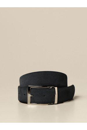 Xc Cintura in pelle liscia e scamosciata reversibile