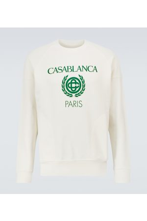 Casablanca Felpa in cotone con stampa