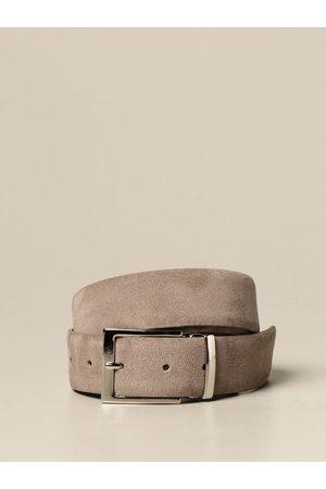 Xc Uomo Cinture - Cintura in pelle liscia e scamosciata reversibile