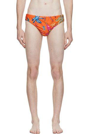 Versace Underwear Orange Trésor De La Mer Swim Briefs