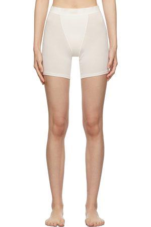 SKIMS Donna Mutande Shorts - Off-White Boyfriend Boxer Shorts