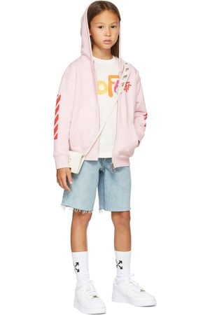 Off-White T-shirt - Kids White Rounded 'Off' Long Sleeve T-Shirt