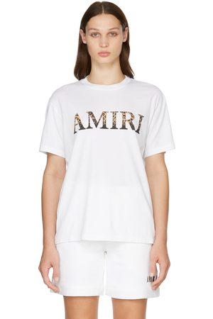 AMIRI White Leopard Logo T-Shirt