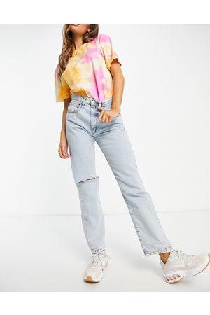 Cotton:On Cotton On - Dad jeans in lavaggio candeggiato con strappi sulle ginocchia