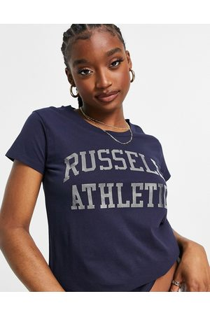 Russell Athletic T-shirt navy con logo