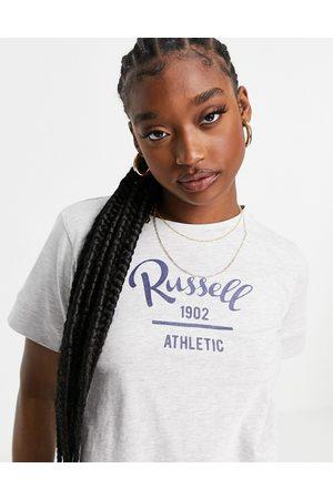 Russell Athletic T-shirt corta con logo grigia