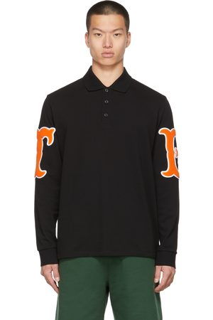 Burberry Letter Graphic Long Sleeve Polo