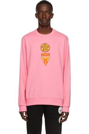 Burberry Pink Badge Appliqué Sweatshirt