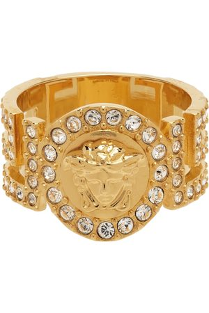 Versace Gold Crystal Icon Medusa Ring