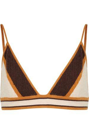 Dodo Bar Or Bralette in maglia con intarsio