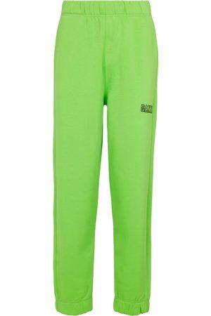 Ganni Donna Pantaloni sportivi - Pantaloni sportivi Isoli in cotone
