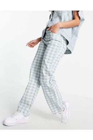 Kickers Donna Straight - Jeans dritti di jeans a quadretti vintage