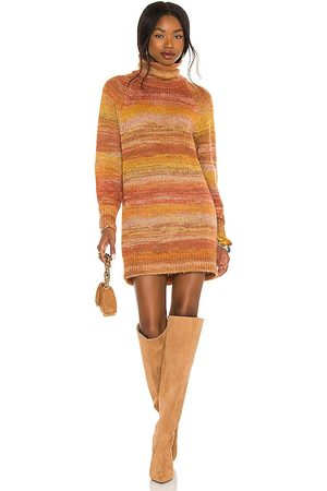 House of Harlow X REVOLVE Mazzy Cowl Neck Dress in - Orange. Size L (also in S, XS, M, XL).
