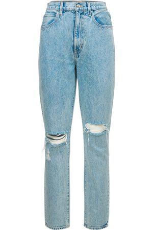 SLVRLAKE Jeans Slim Fit Vita Alta Beatnik Distressed