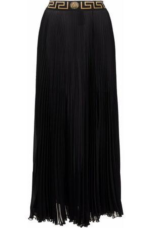 Versace Gonna lunga con dettaglio Greca - 1B000 BLACK