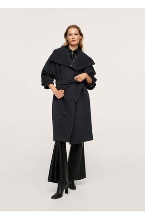 Mango Cappotto lana cintura