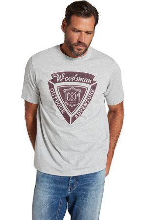 JP1880 T-shirt di jersey con effetto mélange con mezze maniche e stampa