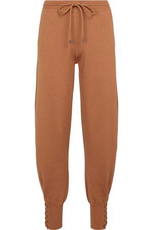 Chloé Pantaloni sportivi in misto lana e seta
