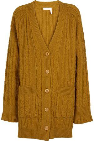 Chloé Cardigan in misto lana a trecce