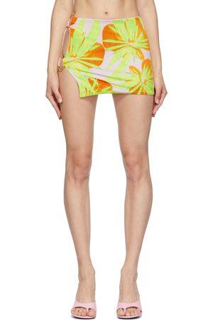 Louisa Ballou Donna Anelli - Pink & Green Double Ring Miniskirt