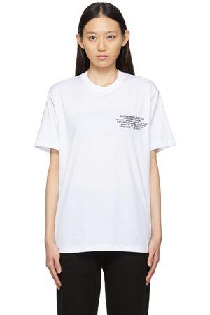 Burberry Donna T-shirt a maniche corte - Location Print T-Shirt