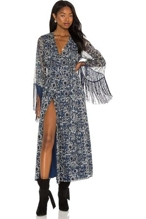 House of Harlow X REVOLVE Reksa Maxi Dress in - Blue. Size L (also in XXS).