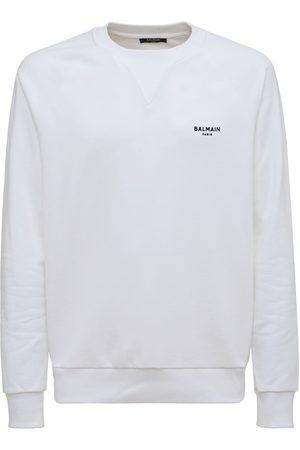 Balmain Felpa In Cotone Organico Con Logo