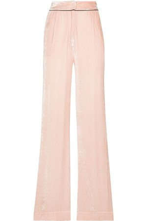 Sleeping with Jacques Donna Loungewear - SWJ VLVT WDE LG BTTM - DUSTY ROSE