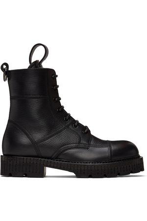 Dolce & Gabbana Uomo Stivali - Black Hardware Lace-Up Boots
