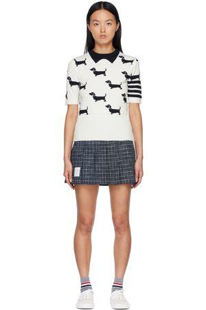 Thom Browne Hector 4-Bar Short Sleeve Sweater