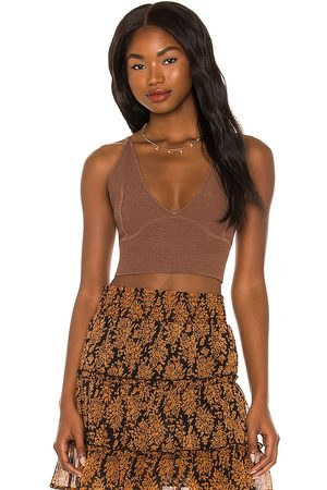 Minkpink Mithra Crop Cami in - Brown. Size L (also in M, S, XS).