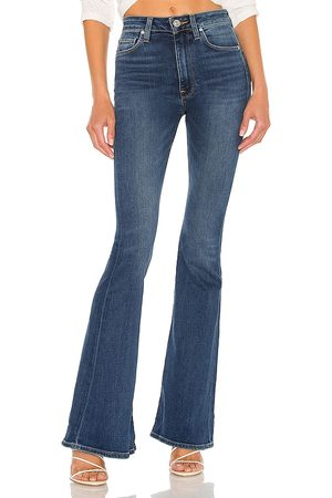 Hudson Holly High Rise Flare in - Blue. Size 23 (also in 24, 25, 26, 27, 28, 29, 30, 31, 32).