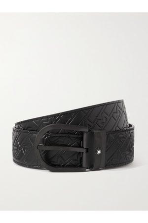 Montblanc Uomo Cinture - 4.5cm Logo-Embossed Leather Belt