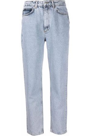 12 STOREEZ Donna Jeans a vita alta - Jeans affusolati a vita alta
