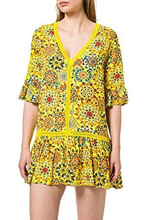 Desigual Top_Java Swimwear Cover Up, Giallo, XL Donna