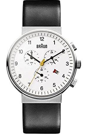 Braun Orologio Cronografo al Quarzo Uomo con Cinturino in Pelle BN0035WHBKG
