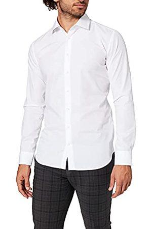 Seidensticker Super Slim Camicia Business, Uomo, Bianco , 37