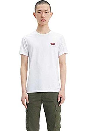 Levi's 2Pk Crewneck Graphic T-Shirt, 2 Pack HM White/Mid Tone Grey Heather, XXS Uomo