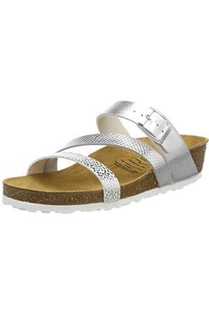 Lico Natural Glitter, Pantofole a Collo Basso Donna, Argento , 36 EU