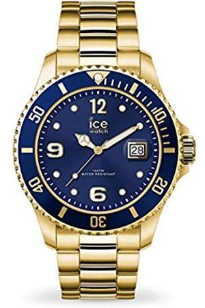 ICE-WATCH Ice Steel Gold Blue, Orologio Oro da Uomo con Cinturino in Metallo, 016762, Large