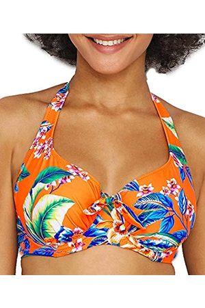 Pour Moi ? Heatwave Halter Underwired Top Reggiseno Bikini, Arancione , 3C Donna