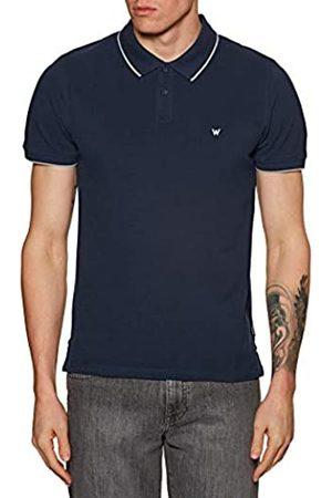 Wrangler Pique Polo Shirt, Blu , XXXX-Large Uomo