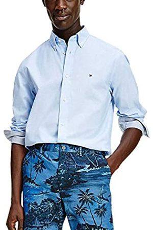 Tommy Hilfiger Natural Soft Poplin Shirt Camicia, Rosso primario, XS Uomo