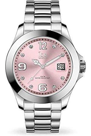 Ice-Watch Ice Steel Light Pink With Stones, Orologio Soldi da Donna con Cinturino in Metallo, 016776, Medium