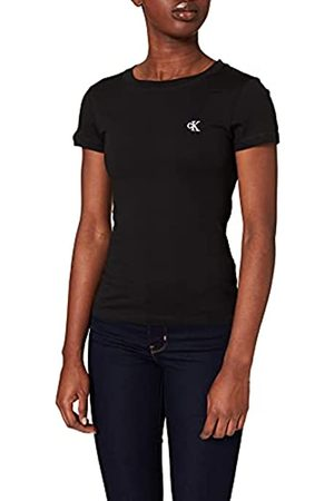 Calvin Klein Embroidery Slim Tee Maglietta, Nero , XS Donna