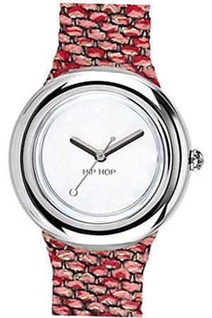 Hip Orologio donna METAL quadrante bianco e cinturino in silicone, metallo fucsia-silver, movimento SOLO TEMPO - 3H QUARZO