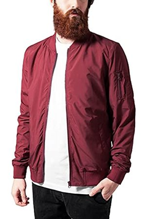 Urban classics Light Bomber Jacket Giacca, Rosso , Small Uomo