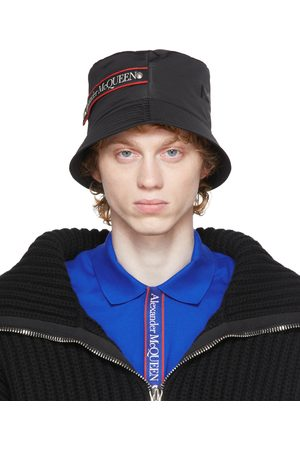 Alexander McQueen Uomo Cappelli - Black Graffiti Logo Bucket Hat